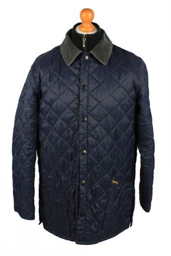 Vintage Barbour Mens Quilted Jacket Coat M Navy