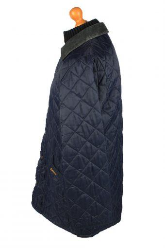 Vintage Barbour Mens Quilted Jacket Coat M Navy -C2139-147714
