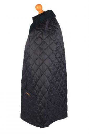 Vintage Barbour Mens Quilted Jacket Coat M Navy -C2141-147725