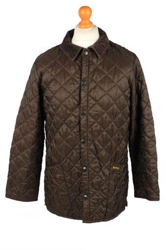 Vintage Barbour Mens Quilted Jacket Coat M Brown