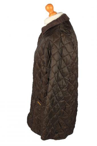 Vintage Barbour Mens Quilted Jacket Coat M Brown -C2148-147775