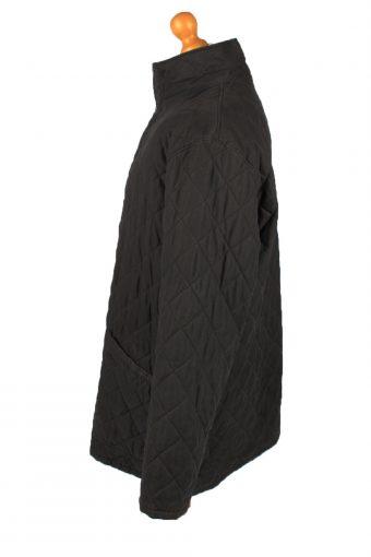 Vintage Barbour Mens Quilted Jacket Coat XL Black -C2147-147770