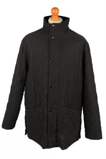 Vintage Barbour Mens Quilted Jacket Coat XL Black