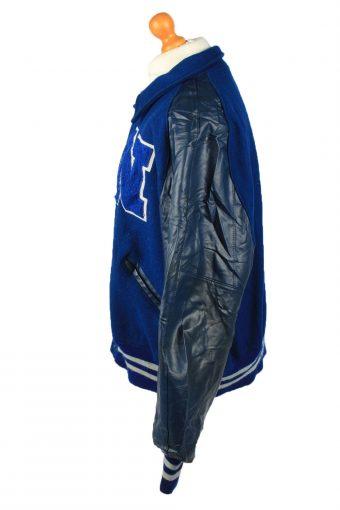 Vintage Wool Unisex Baseball Bomber Jacket 90s 3XL Navy -C2168-148041