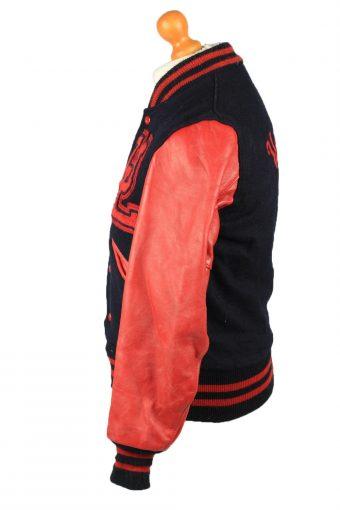 Vintage Wool Unisex Baseball Bomber Jacket 90s 34 Navy -C2170-147936