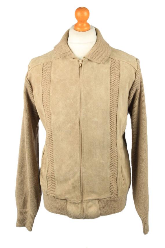 Vintage La Panthera Mens Suede Leather Jacket Jumper L Brown -C2185-0