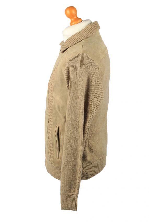 Vintage La Panthera Mens Suede Leather Jacket Jumper L Brown -C2185-147997