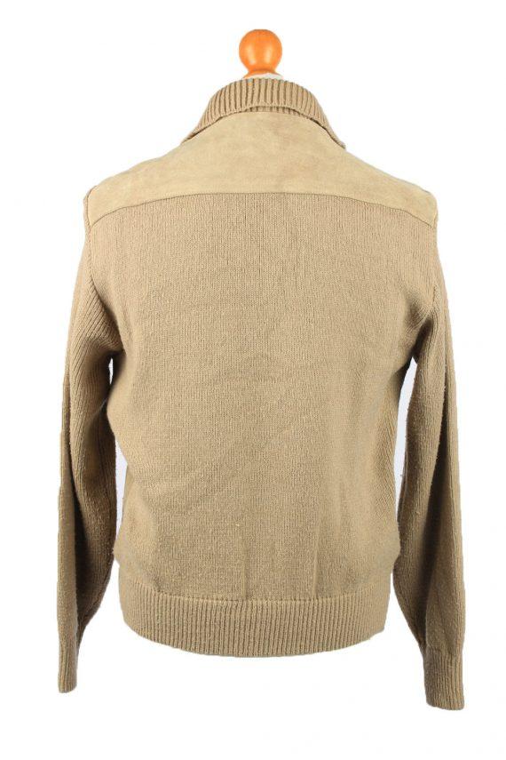 Vintage La Panthera Mens Suede Leather Jacket Jumper L Brown -C2185-147998