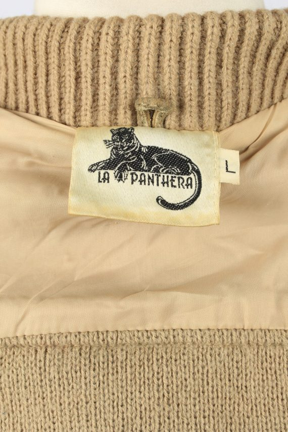 Vintage La Panthera Mens Suede Leather Jacket Jumper L Brown -C2185-147999
