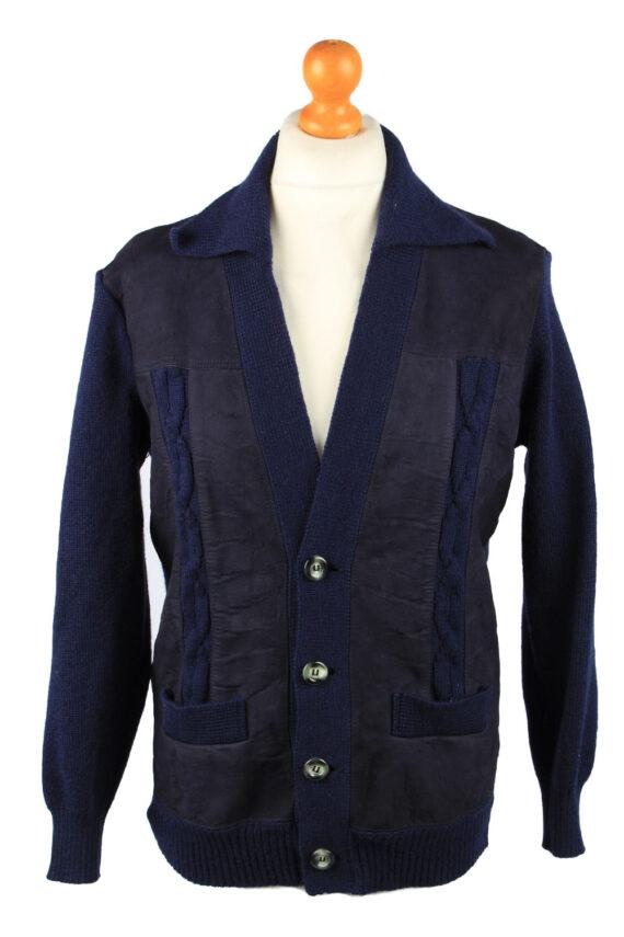 Vintage Pierre Sangan Mens Jacket Cardigan L Navy -C2189-0