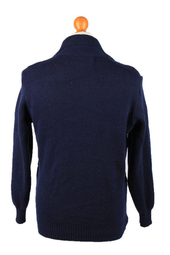 Vintage Pierre Sangan Mens Jacket Cardigan L Navy -C2189-148014