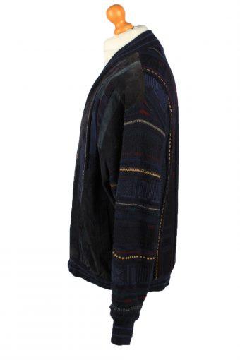 Vintage C&A Mens Jacket Cardigan 80s XL Navy -C2190-148017