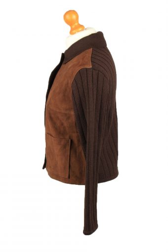 Vintage Alpha Massimo Womens Suede Leather Jacket 80s 40 Brown -C2194-148033
