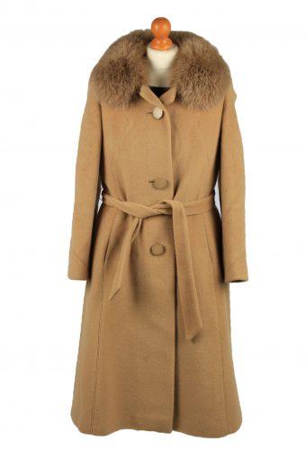 Vintage Basler Modell Womens Wool Overcoat Size 40 Coffee
