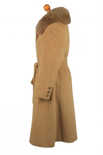 Vintage Basler Modell Womens Wool Overcoat Size 40 Coffee -C2204-148243