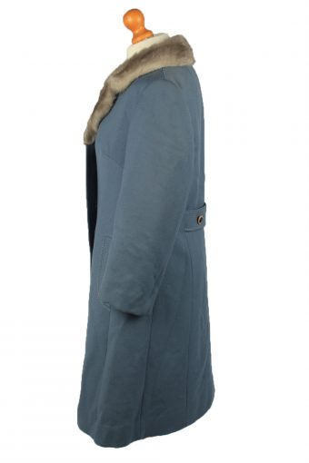 "Vintage Mode Aus Meisterhand Womens Wool Overcoat Size 16 Chest 40"" Blue -C2205-148248"