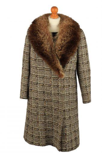 Vintage HM Original Womens Check Overcoat Size 42 Multi
