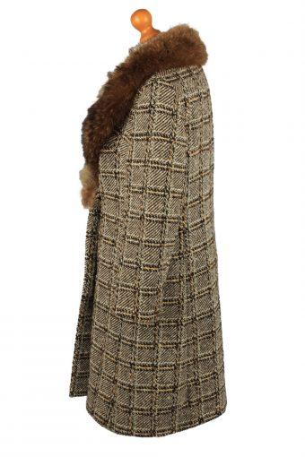 Vintage HM Original Womens Check Overcoat Size 42 Multi -C2207-148258