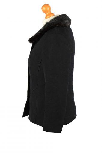 Vintage Wool Womens Jacket Coat Size 42 Black -C2209-148268