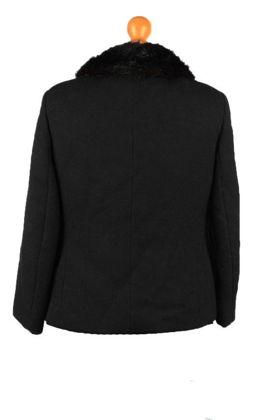 Vintage Wool Womens Jacket Coat Size 42 Black -C2209-148269