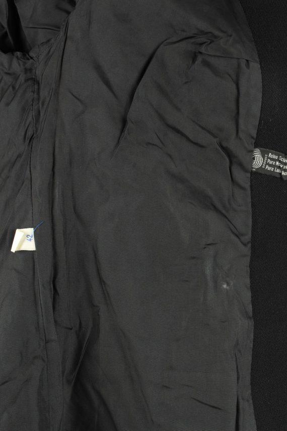 Vintage Wool Womens Jacket Coat Size 42 Black -C2209-148271