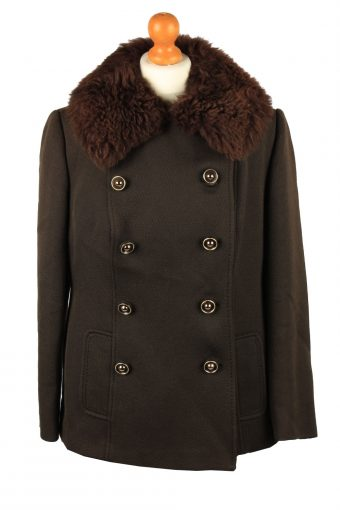 Vintage Elegance D'Europe Womens Wool Mix Coat Size 14 Chest 40 in Brown