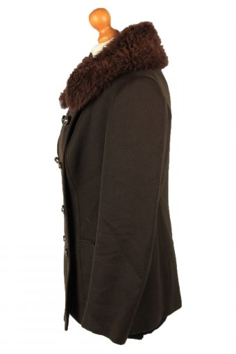 """Vintage Elegance D'Europe Womens Wool Mix Coat Size 14 Chest 40"""" Brown -C2211-148278"""