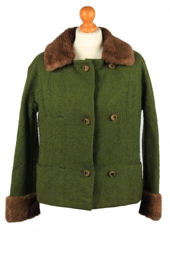 Vintage Gisela Munchen Womens Jacket Coat 12 Chest 38 in Green