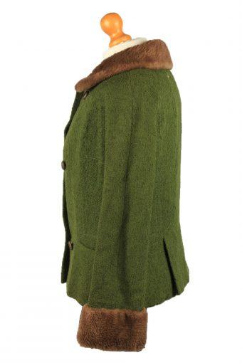 "Vintage Gisela Munchen Womens Jacket Coat 12 Chest 38"" Green -C2212-148283"