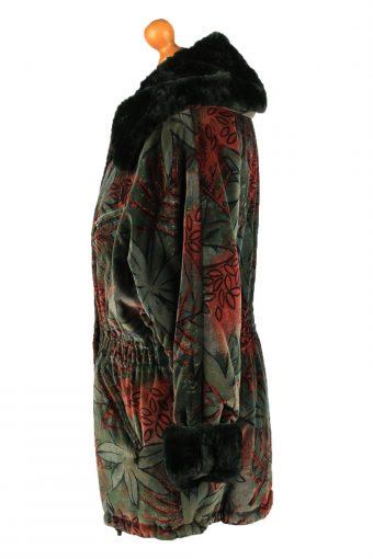 Vintage Fulwiline Womens Velvet Coat Size 36 Green -C2216-148303