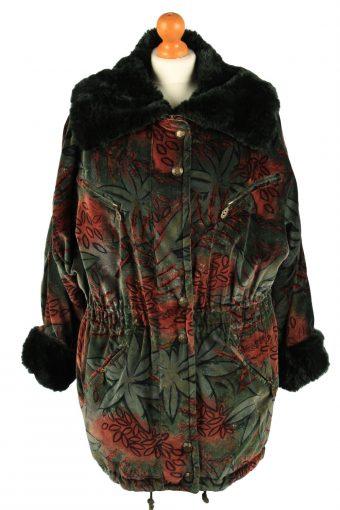 Vintage Fulwiline Womens Velvet Coat Size 36 Green