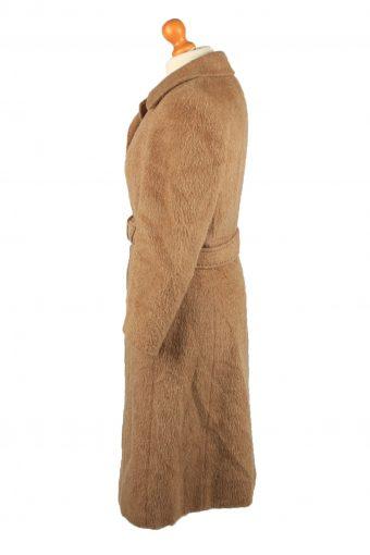 Vintage Hucke Womens Wool Mix Overcoat Size 38 Brown -C2221-148328