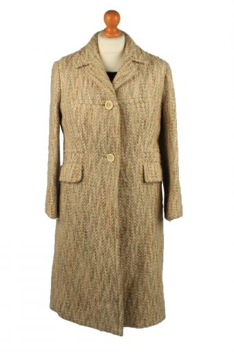Vintage Gisela Munchen Womens Lined Overcoat Size 14 Chest 39 in Cream