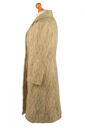 "Vintage Gisela Munchen Womens Lined Overcoat Size 14 Chest 39"" Cream -C2222-148333"