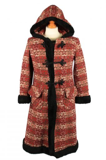 Vintage Womens Wool Mix Overcoat Size 8 Chest 33 Red