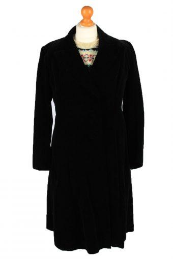 Vintage Velvet Womens Overcoat Size 12 Chest 38 in Black