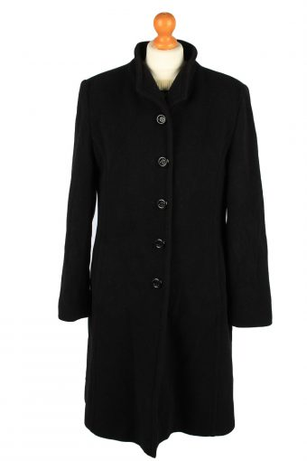 Vintage Bices Womens Lined Overcoat Size 14 Black