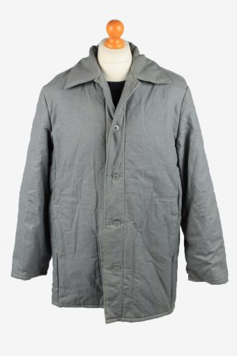 Vintage VEB Wattana Mens Work Jacket Parka 80s 52 Grey