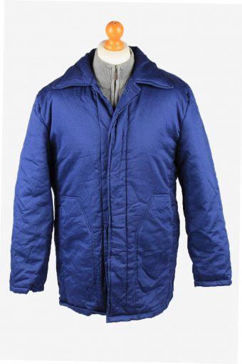 Vintage Mens Work Jacket Parka 80s 52 Blue -C2239