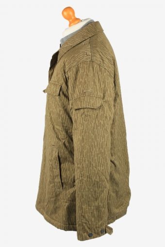 Vintage Mens Work Jacket Army Parka 80s 52 Olive -C2246-148519