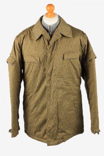Vintage Mens Work Jacket Army Parka 80s 52 Olive