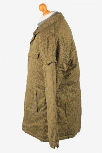 Vintage Mens Work Jacket Army Parka 80s 52 Olive -C2247-148524