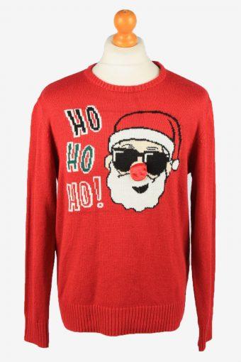 Christmas Jumper Mens Santa Claus Red M