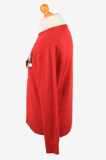 Christmas Jumper Vintage Man Mens Santa Claus 48/50 Red -IL2281-149834