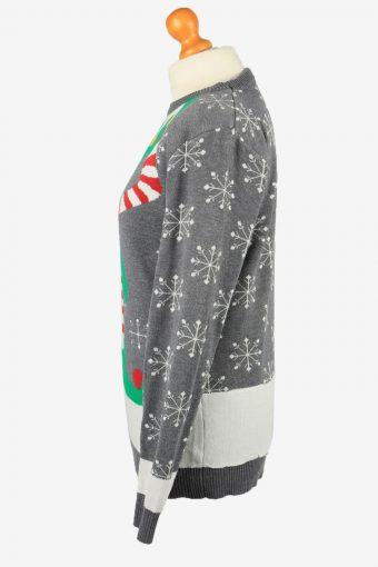 Christmas Jumper Vintage Noroze Womens Elf Body M Grey -IL2286-149854