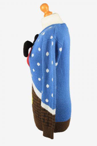 Christmas Jumper Vintage Love By Design Womens 3D XS Blue -IL2290-149873