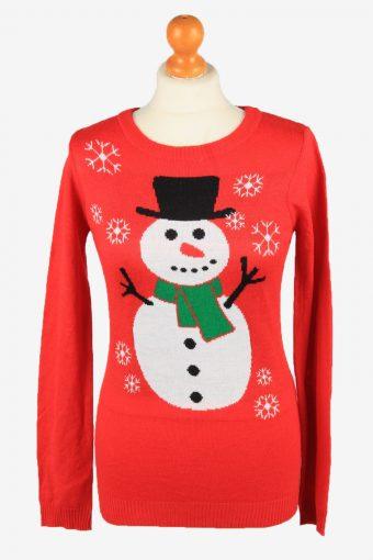 Christmas Jumper Womens Snowman Rue 21 Red M