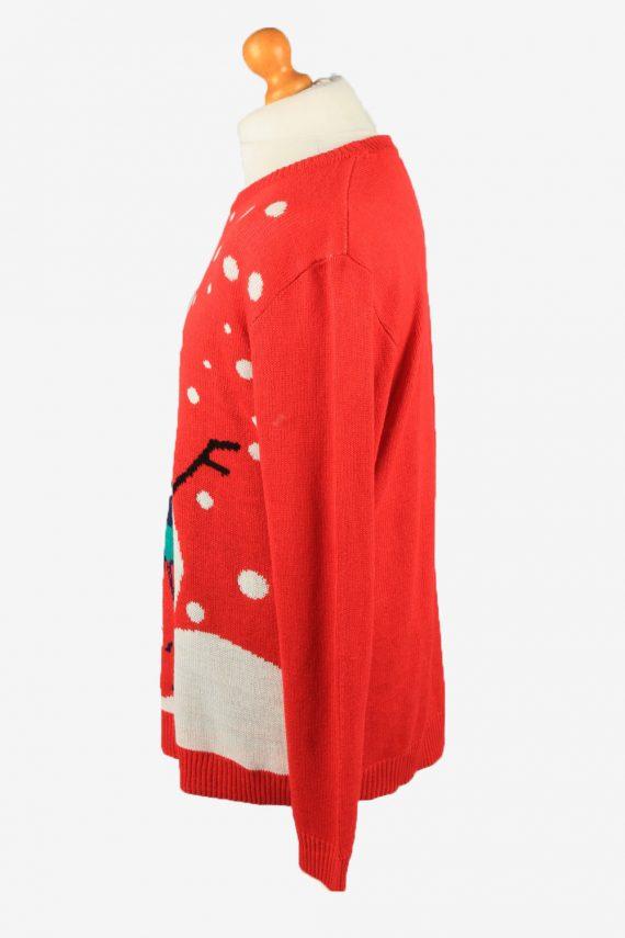 Christmas Jumper Vintage Nizzin Amsterdam Mens Snowman L Red -IL2321-150147