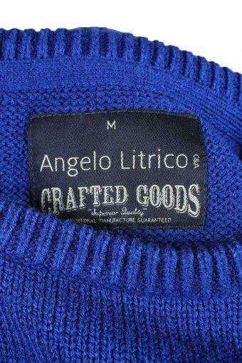Christmas Jumper Vintage Angelo Litrico Womens Merry Xmas M Blue -IL2258-149720