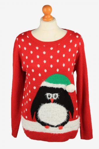Christmas Jumper Womens Penguin Kim Rogers Red M